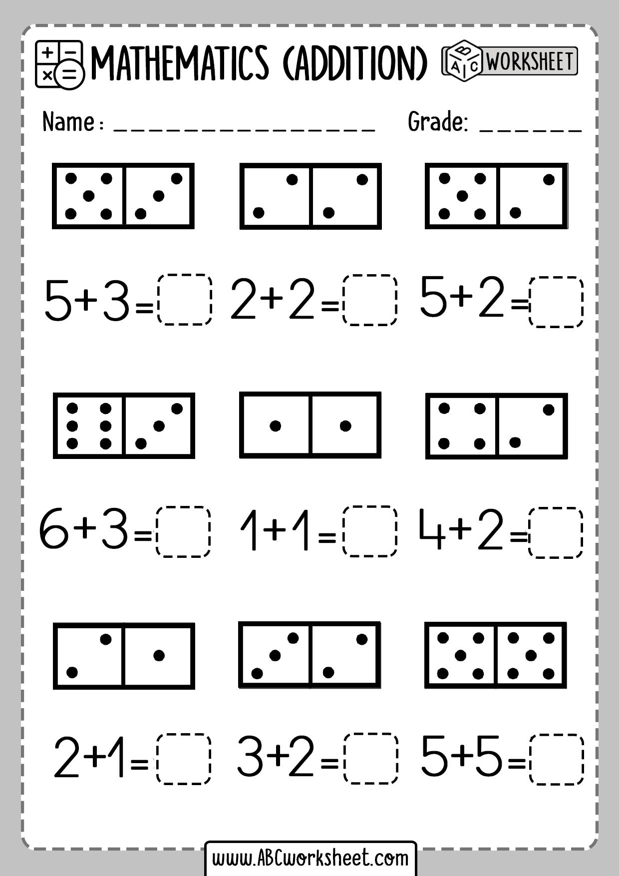 Free Printable Kindergarten Addition Worksheets