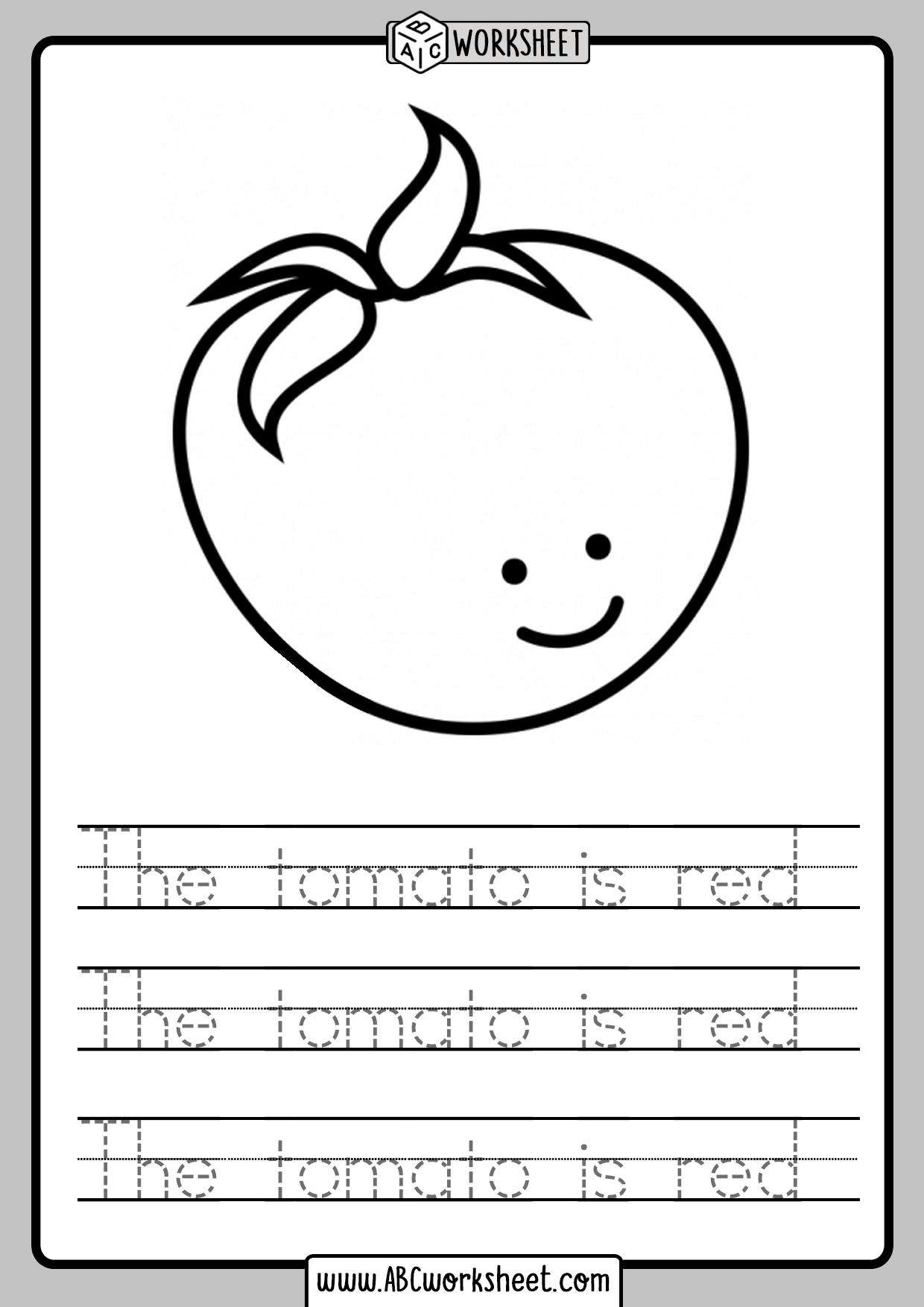Traceable Sentences Worksheets Kindergarten