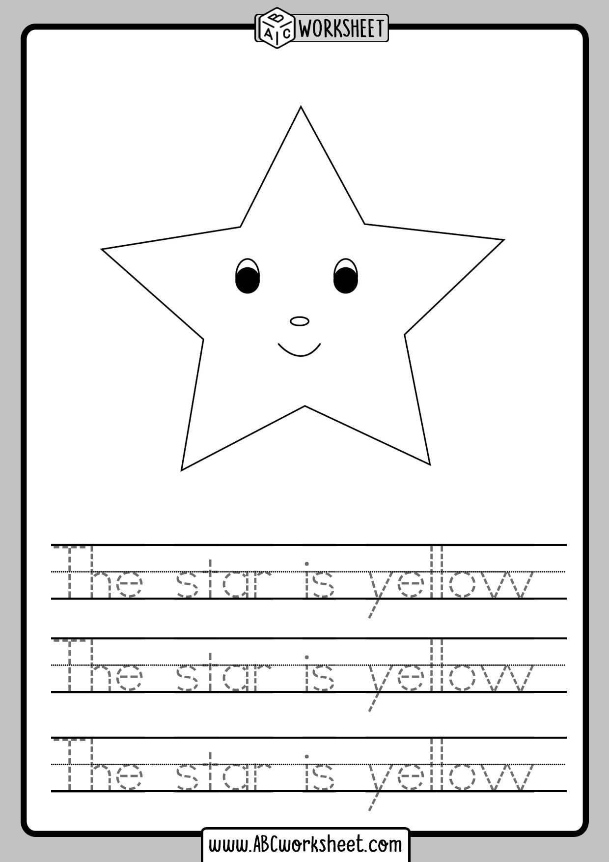 Tracing Sentences Worksheet