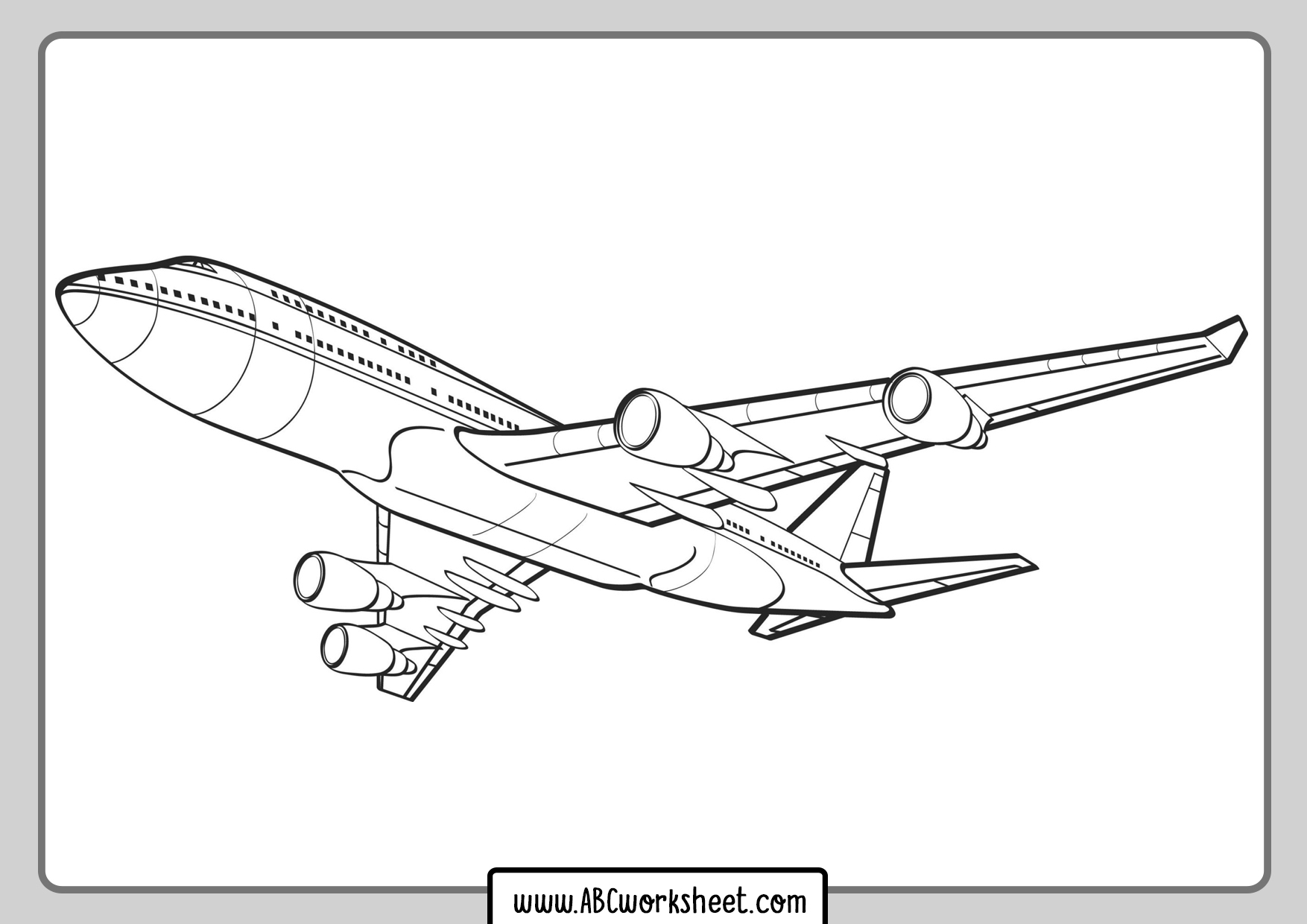 Airplane Airbus Coloring Page