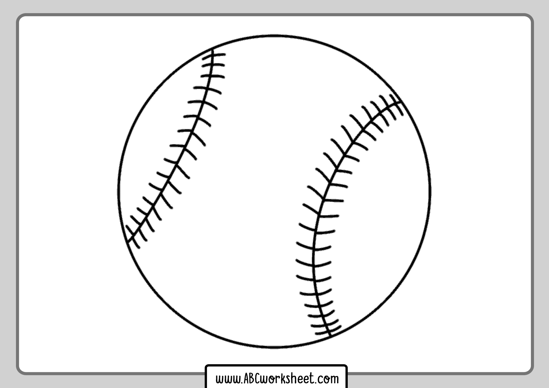 Baseball Ball For Coloring