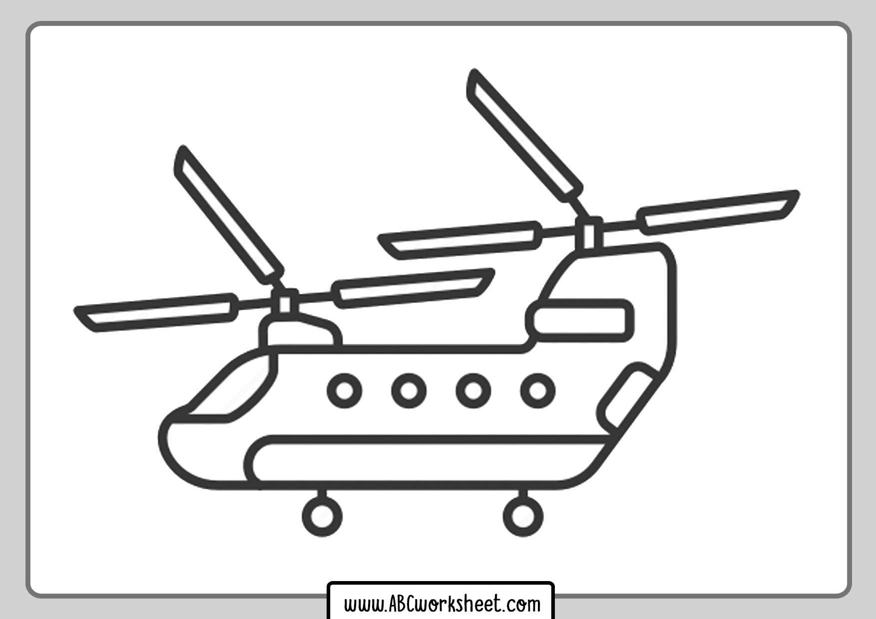 Doble Helicopter Coloring Page