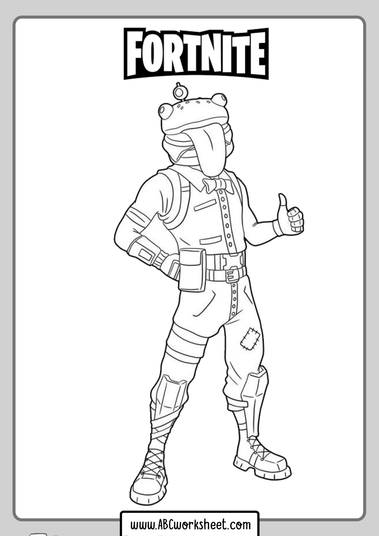 Funny Skins Fortnite Coloring Pages
