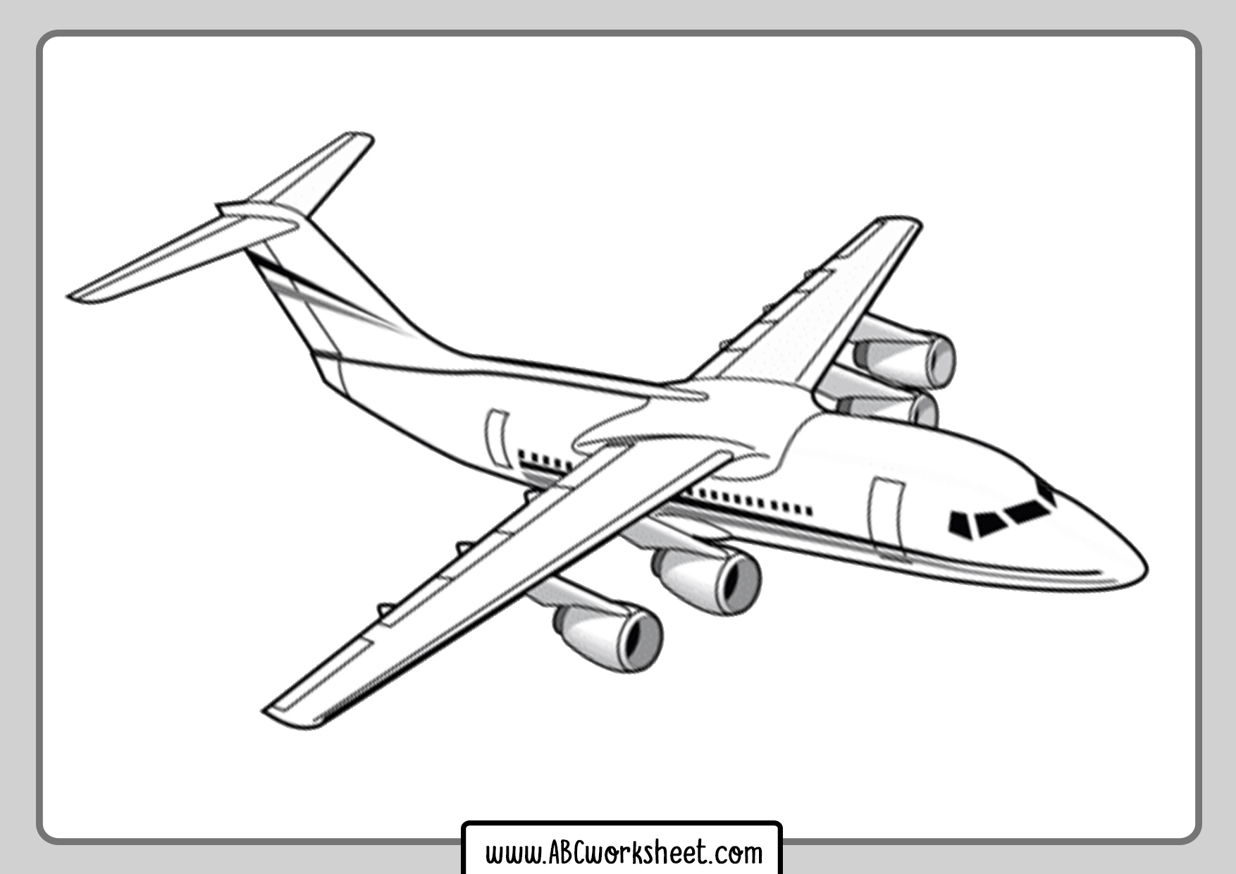 Jet Airplane Coloring Page