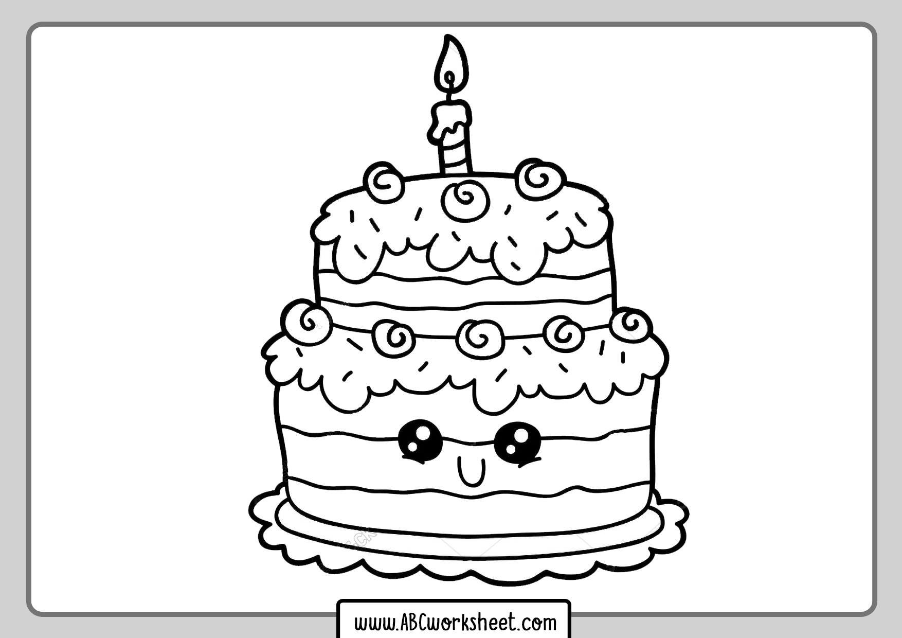 Cakes Coloring Pages