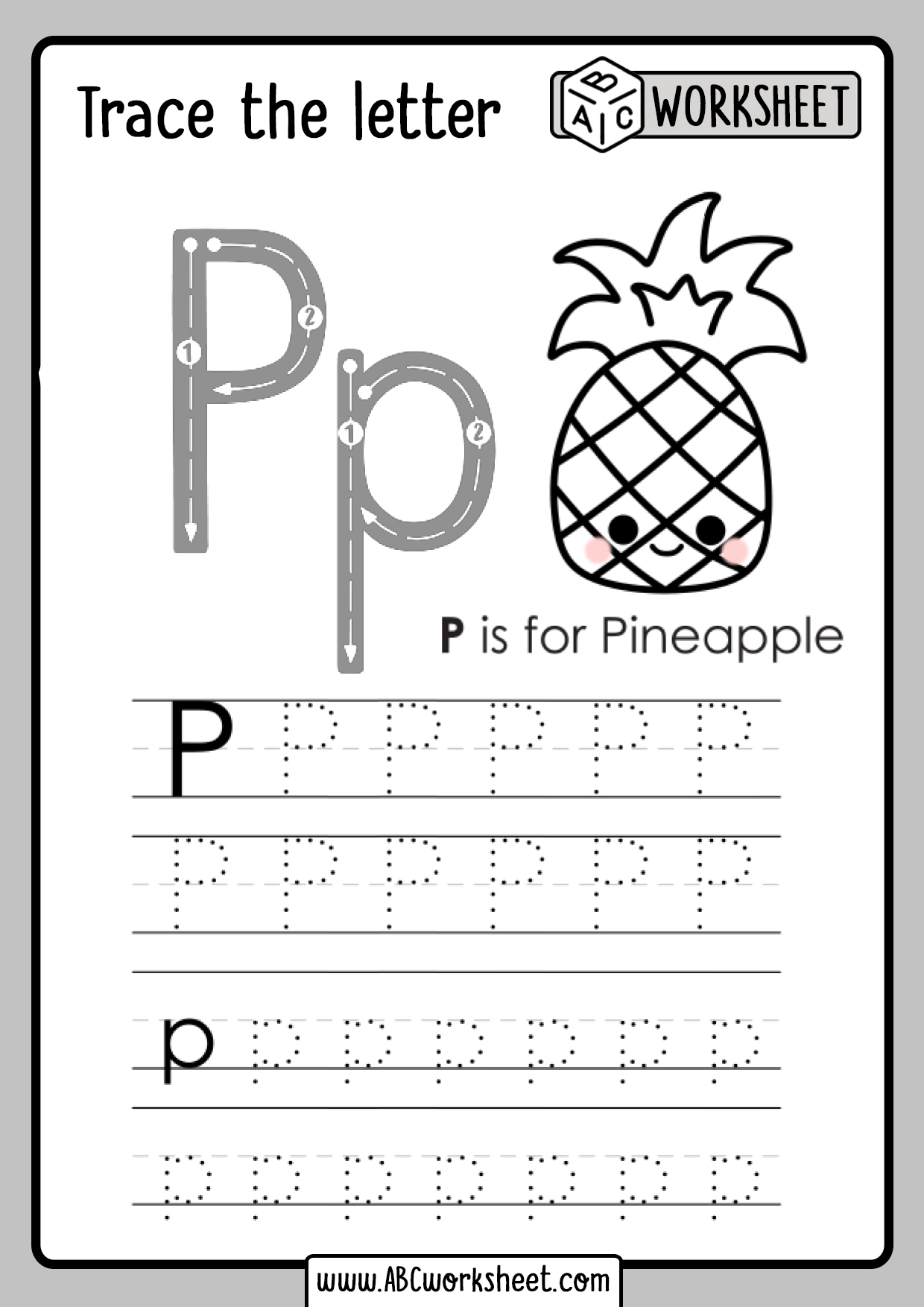 Letter P Tracing Worksheet