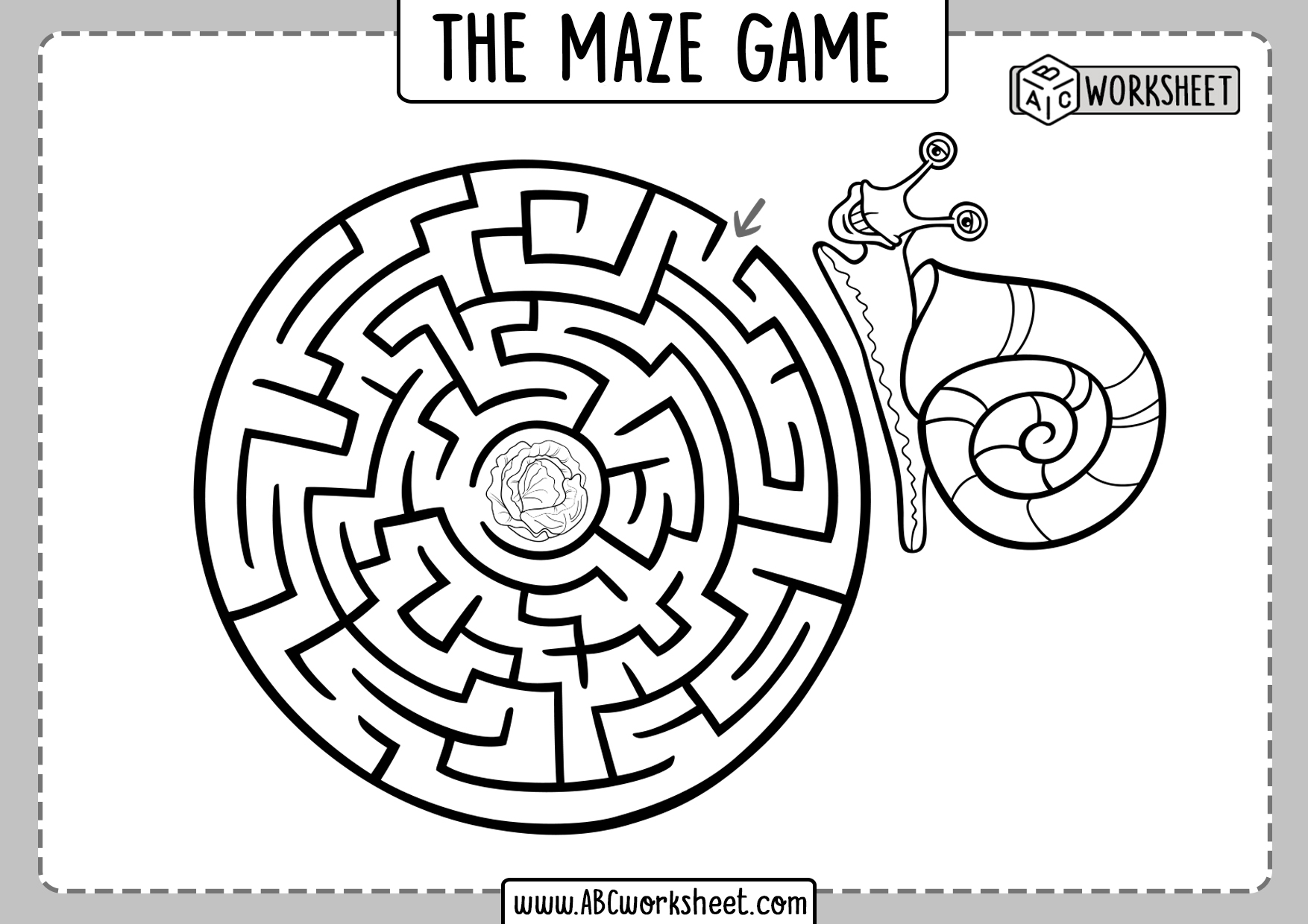 Maze For Preschool