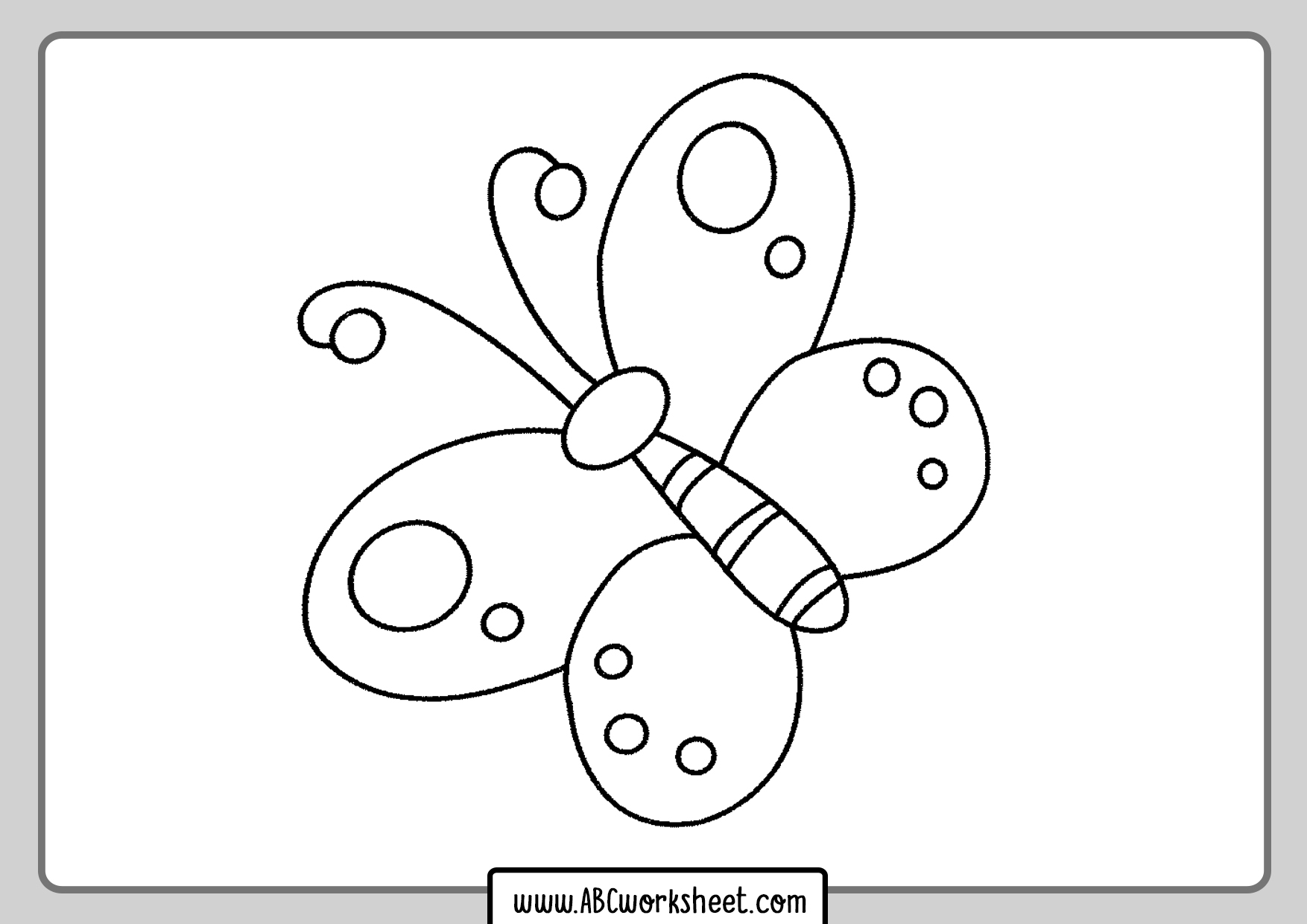 Printable Simple Butterfly Coloring Page For Kids