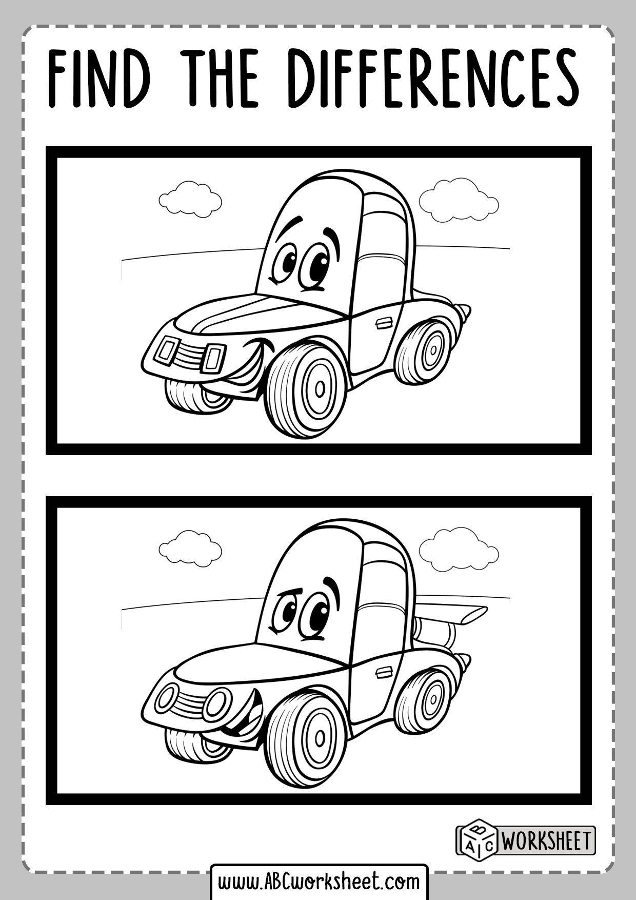 Spot The Differences Worksheets Educational