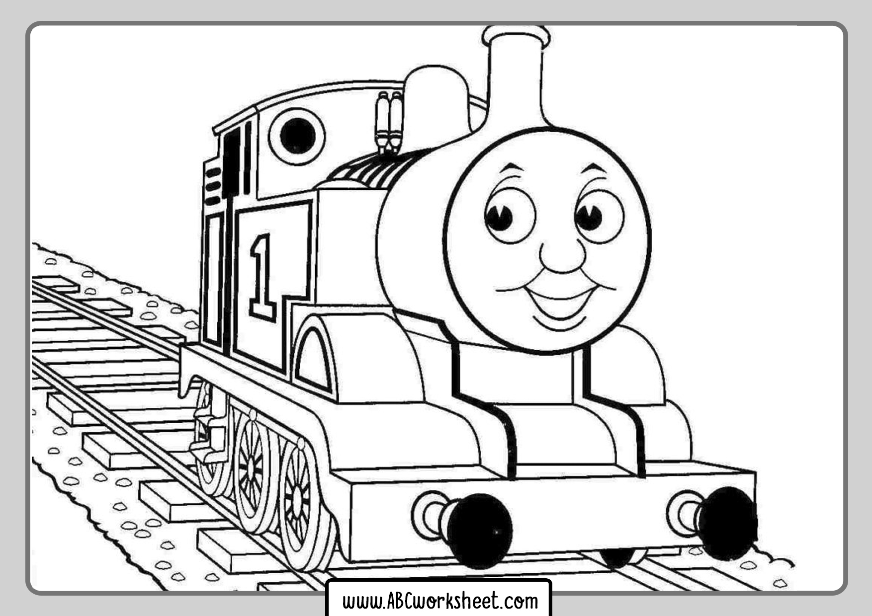 Train Coloring Pages For Kindergarten