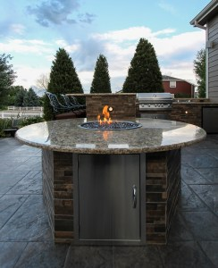ABD outdoor fire feature