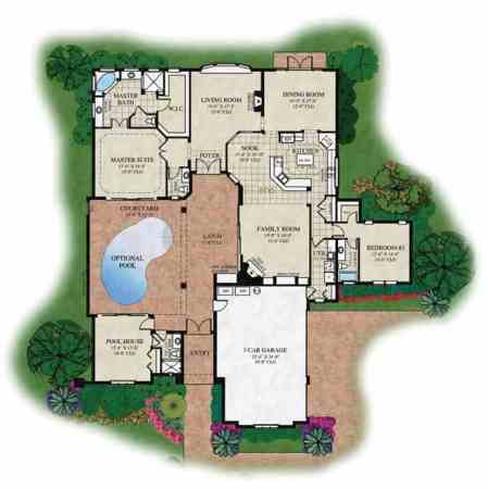 Courtyard V   Orlando s Premier Custom Home Builder This floor plan is just the starting point     as a truly custom home  builder  ABD Development ensures that our clients have complete control  over every