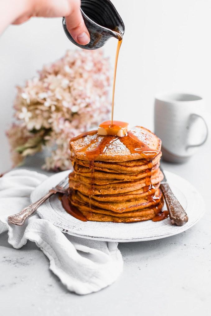 Pumpkin Soufflé Pancakes - A Beautiful Plate