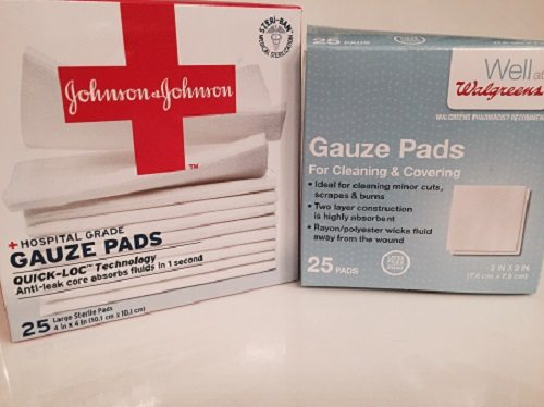 Using gauze for skin care