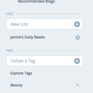 Wordpress reader tags and lists