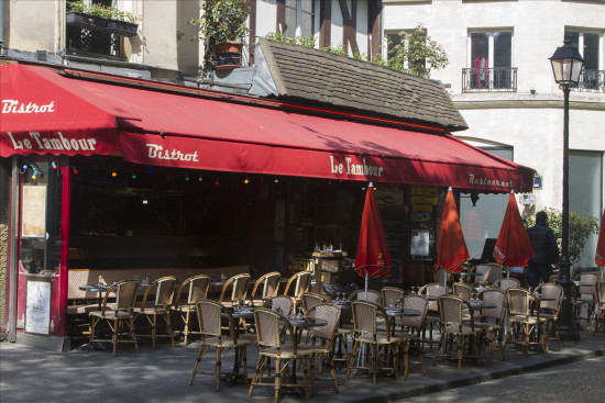 Typical Paris Cafe