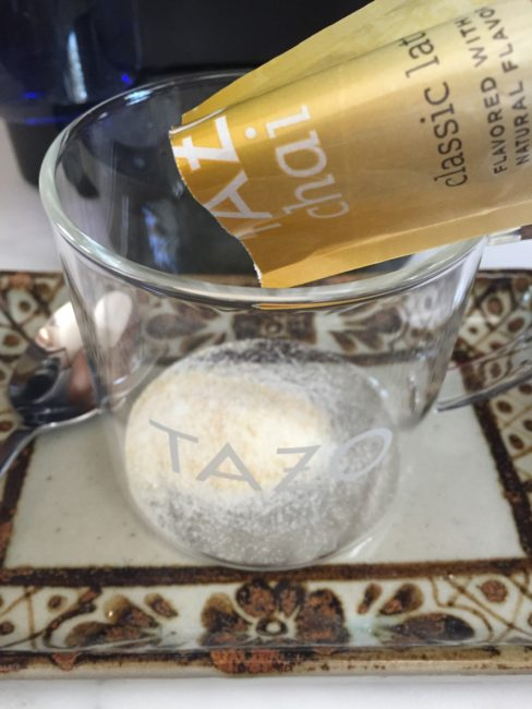 Step 1 brewing TAZO® Chai Latte K-Cup® pods