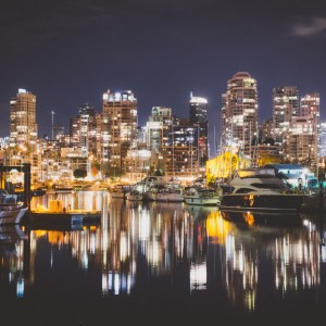 Vancouver British Columbia at night