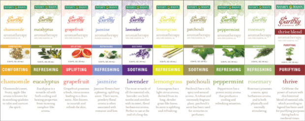 Nature's Bounty Earthy Elements Essential Oil Collection