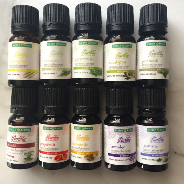 Natures-Bounty-Earthly-Elements essential oils collection