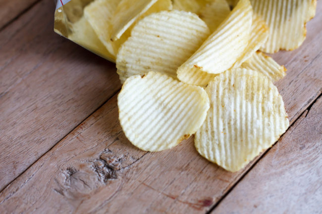 Potato Chips Unhealthy Snacking