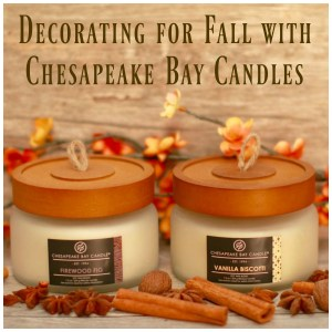 Chesapeake Bay Candles decorate for fall