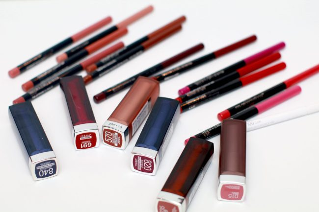 Maybelline-ColorSensations-lipstick and lip liners