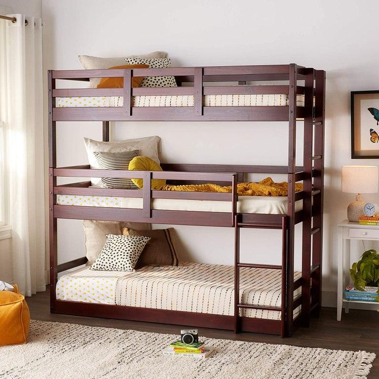 triple-dark-wood-bunk-bed