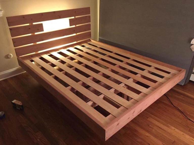 diy-floating-bed