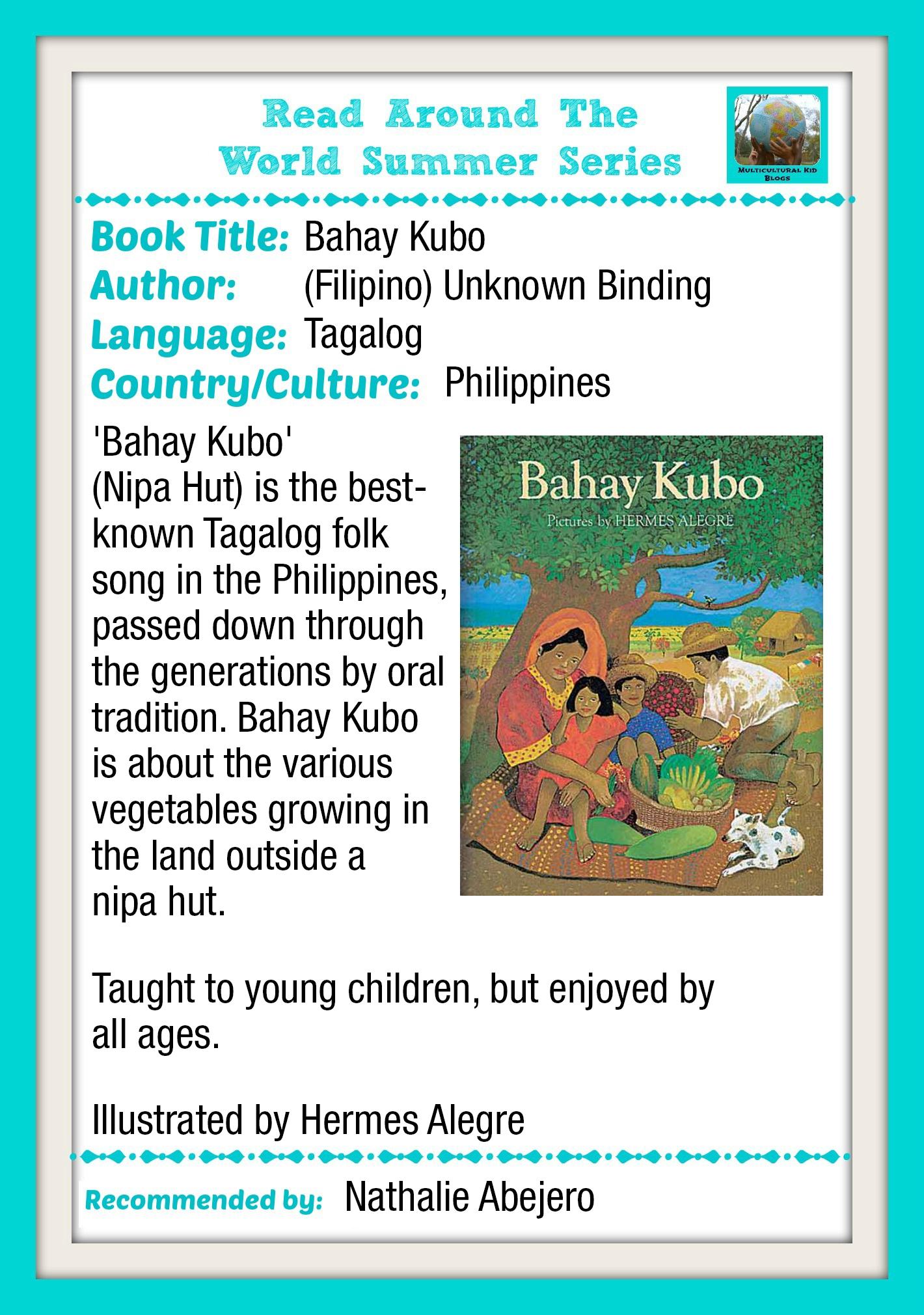 Tagalog Book Bahay Kubo Nipa Hut