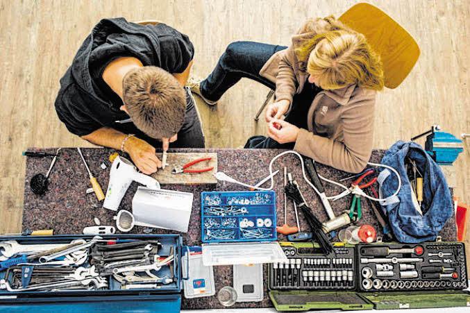Sonder-Repair-Café in der KlimaWerkstatt Spandau
