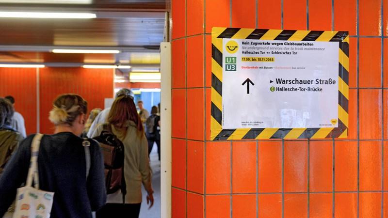Ersatzverkehr U-bahn BVG U1 Hallesches Tor