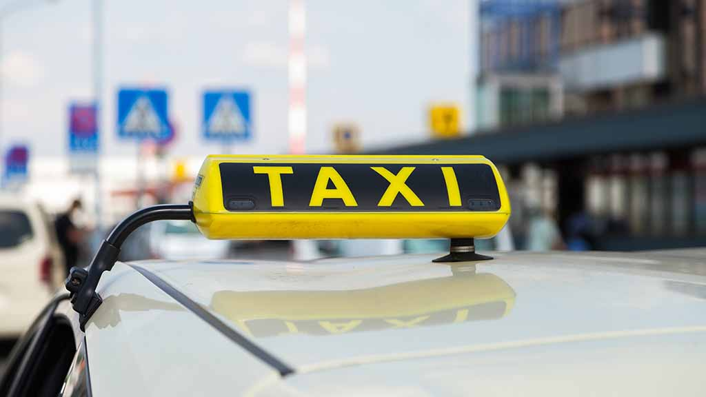Taxi in der Berliner City.