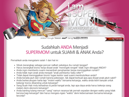 Landing Page Ibunda Super - Abenetwork Group