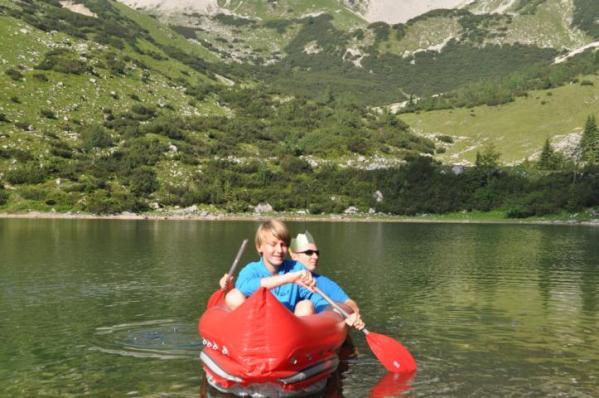 Kanutour auf dem Soiernsee. Abenteuer für Vater und Sohn. Ein Buch von Gerhard von Kapff