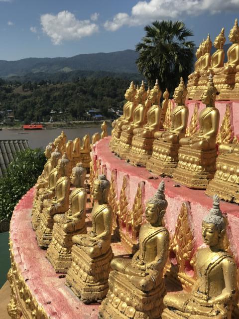 Tempel in Laos, Flusskreuzfahrt mit der Mekong Pearl