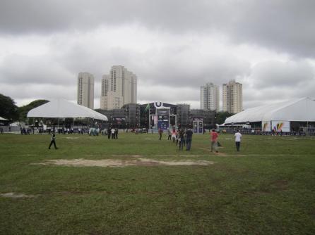Das noch leere Festivalgelände