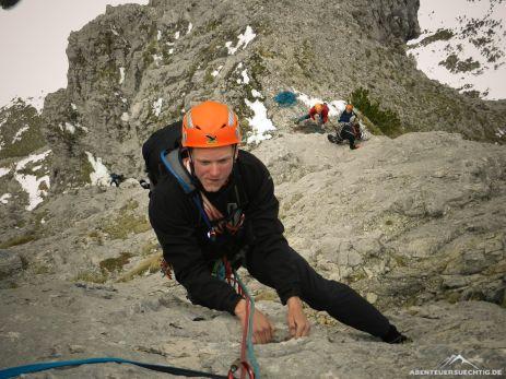 Die Via Anita bietet wirklich schöne Kletterei in gemäßigtem Schwierigkeitsgrad