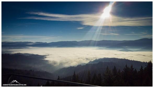 Inversionswetterlage im Schwarzwald