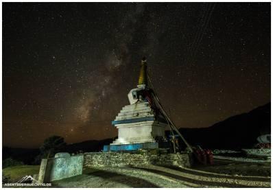 Milchstraße mit Stupa. Es war wirklich faszinierend, dass man diese mit bloßem Auge erkannt hat..