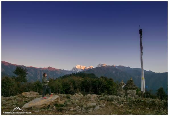 Sonnenaufgang auf dem Tragshindo La-Pass