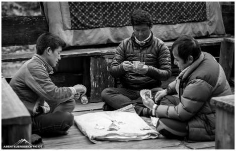 Kartenspieler in Khote