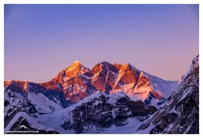 Weil es so schön ist, nochmal der höchste Berg der Erde