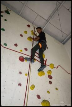 Im Toprope-Bereich konnten die Kids ein paar Meter Höhe machen