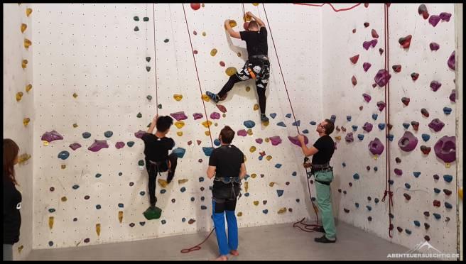 Im Toprope-Bereich konnten wir sogar klettern