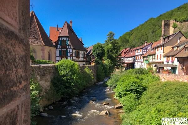 Fachwerkhäuser prägen das Ortsbild vieler Dörfer im Elsass