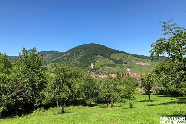 Grüne Hügel und beschauliche Dörfer im Elsass