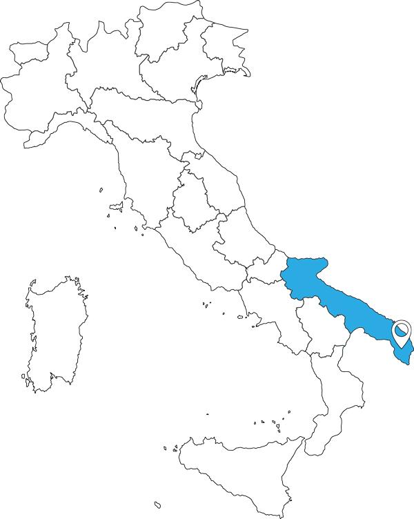 Karte von Italien - Apulien