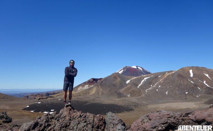 Dennis wandert im Tongariro Nationalpark