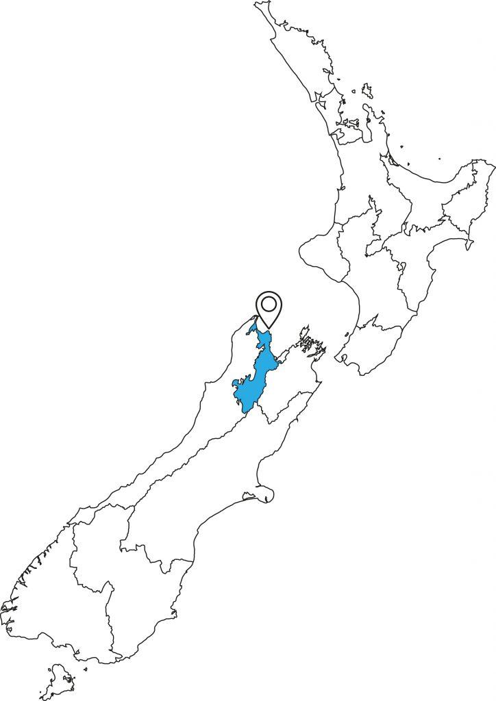Lage Abel Tasman Neuseeland